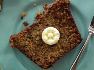 Banana Bread with a slab of butter
