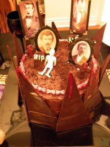 Bloody Graveyard Cake