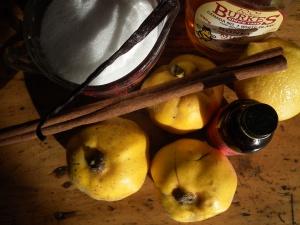 Quince Jam Ingredients