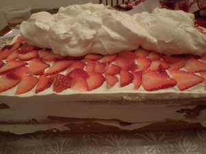 2nd layer of cream on top of berries