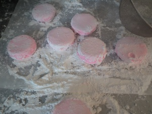 Circle marshmallows un-molded